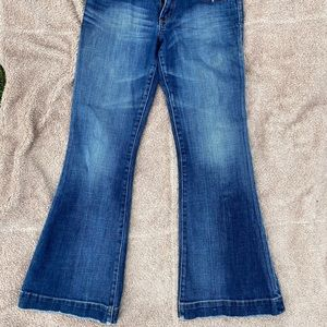 SOLD—-Express flare/bell bottom jeans 4 short